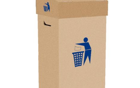 Kartonkinen roskalaatikko